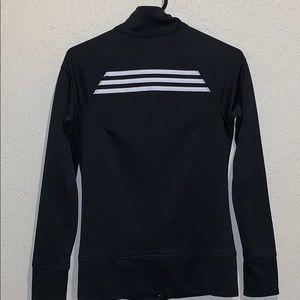adidas zip jacket with back stripes